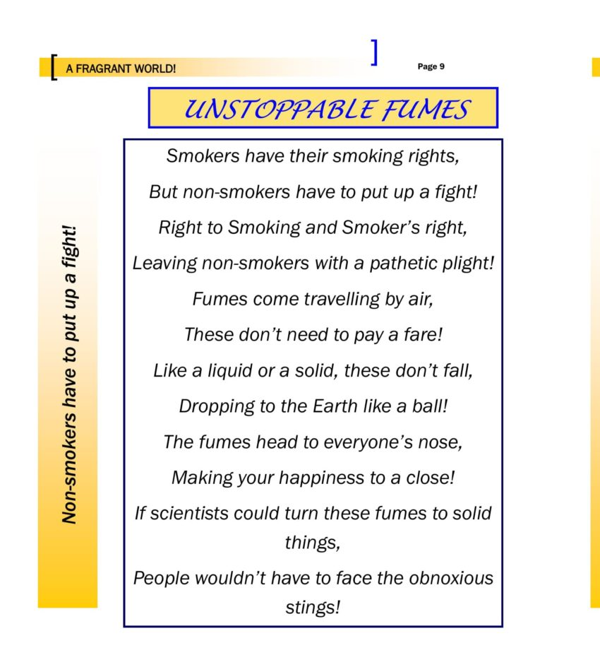 A Fragrant world - Unstoppable Fumes