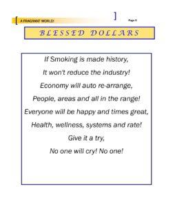 A Fragrant world - Blessed Dollars