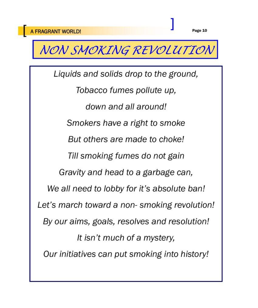 A Fragrant world - Non-Smoking Revolution