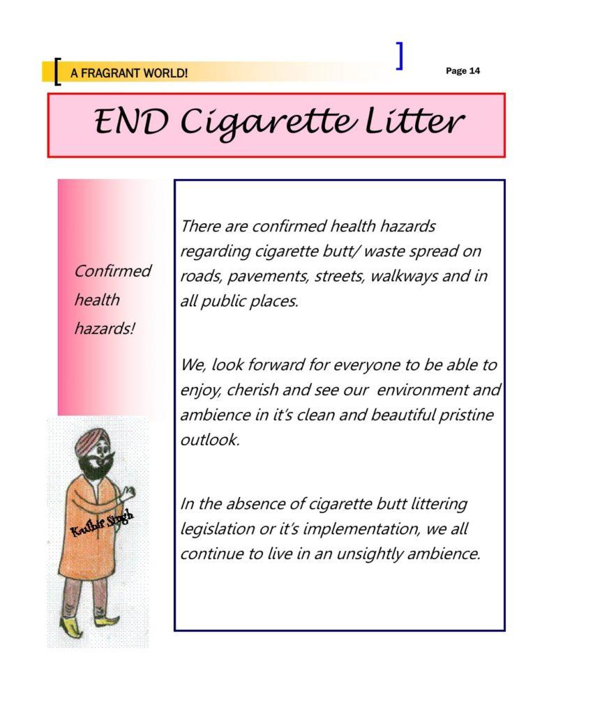 End Cigarette Litter